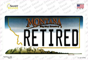 Retired Montana State Wholesale Novelty Sticker Decal