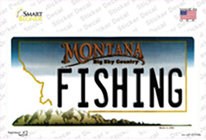Fishing Montana State Wholesale Novelty Sticker Decal