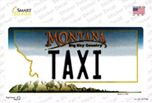 Taxi Montana State Wholesale Novelty Sticker Decal