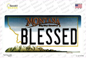 Blessed Montana State Wholesale Novelty Sticker Decal