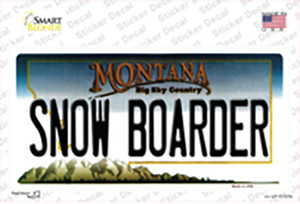 Snow Boarder Montana State Wholesale Novelty Sticker Decal