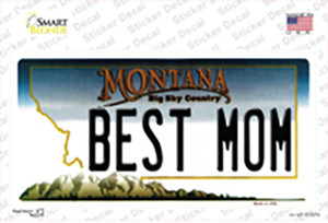 Best Mom Montana State Wholesale Novelty Sticker Decal