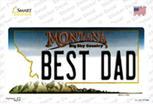 Best Dad Montana State Wholesale Novelty Sticker Decal