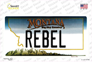 Rebel Montana State Wholesale Novelty Sticker Decal