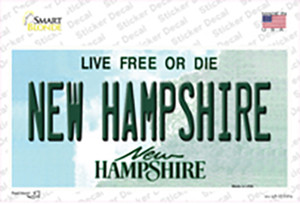 New Hampshire State Wholesale Novelty Sticker Decal