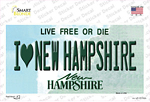 I Love New Hampshire State Wholesale Novelty Sticker Decal