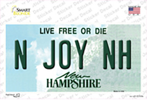 N Joy NH New Hampshire State Wholesale Novelty Sticker Decal