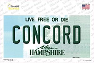Concord New Hampshire State Wholesale Novelty Sticker Decal