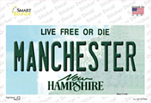 Manchester New Hampshire State Wholesale Novelty Sticker Decal
