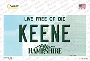 Keene New Hampshire State Wholesale Novelty Sticker Decal
