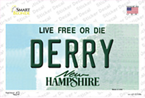 Derry New Hampshire State Wholesale Novelty Sticker Decal