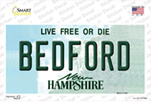 Bedford New Hampshire State Wholesale Novelty Sticker Decal