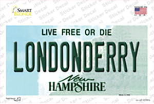 Londonderry New Hampshire State Wholesale Novelty Sticker Decal