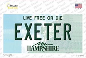 Exeter New Hampshire State Wholesale Novelty Sticker Decal