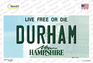 Durham New Hampshire State Wholesale Novelty Sticker Decal