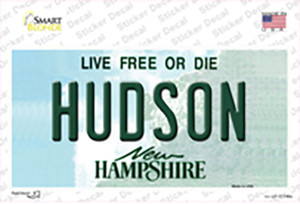Hudson New Hampshire State Wholesale Novelty Sticker Decal