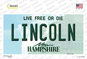 Lincoln New Hampshire State Wholesale Novelty Sticker Decal