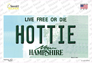 Hottie New Hampshire State Wholesale Novelty Sticker Decal