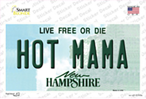 Hot Mama New Hampshire State Wholesale Novelty Sticker Decal