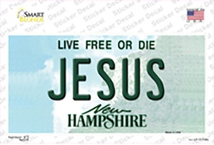 Jesus New Hampshire State Wholesale Novelty Sticker Decal