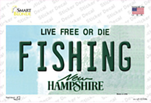 Fishing New Hampshire State Wholesale Novelty Sticker Decal