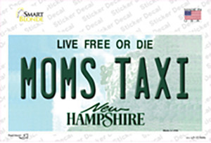 Moms Taxi New Hampshire State Wholesale Novelty Sticker Decal