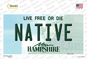 Native New Hampshire State Wholesale Novelty Sticker Decal