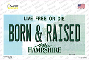 Born and Raised New Hampshire State Wholesale Novelty Sticker Decal