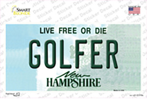 Golfer New Hampshire State Wholesale Novelty Sticker Decal