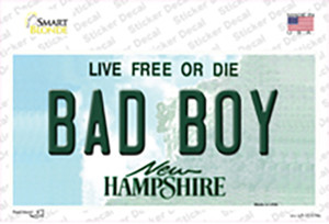 Bad Boy New Hampshire State Wholesale Novelty Sticker Decal