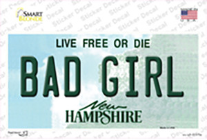 Bad Girl New Hampshire State Wholesale Novelty Sticker Decal