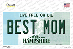 Best Mom New Hampshire State Wholesale Novelty Sticker Decal