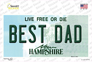 Best Dad New Hampshire State Wholesale Novelty Sticker Decal