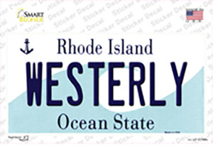 Westerly Rhode Island State Wholesale Novelty Sticker Decal