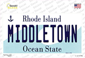 Middletown Rhode Island State Wholesale Novelty Sticker Decal
