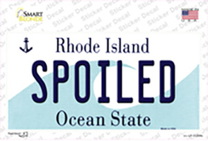 Spoiled Rhode Island State Wholesale Novelty Sticker Decal