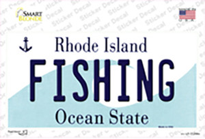 Fishing Rhode Island State Wholesale Novelty Sticker Decal