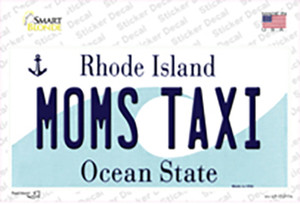 Moms Taxi Rhode Island State Wholesale Novelty Sticker Decal