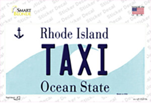 Taxi Rhode Island State Wholesale Novelty Sticker Decal