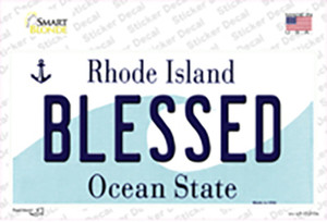 Blessed Rhode Island State Wholesale Novelty Sticker Decal