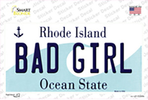 Bad Girl Rhode Island State Wholesale Novelty Sticker Decal