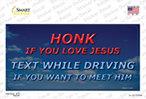 Honk If You Love Jesus Wholesale Novelty Sticker Decal