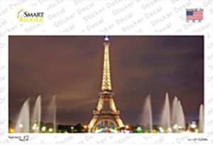 Eiffel Tower Night With Fountain Wholesale Novelty Sticker Decal