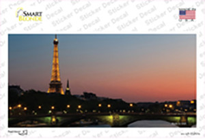Eiffel Tower Night With River and Bridge Wholesale Novelty Sticker Decal