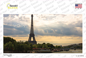 Eiffel Tower Day Overlooking Water Wholesale Novelty Sticker Decal