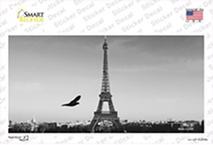 Eiffel Tower Black and White With Bird Wholesale Novelty Sticker Decal