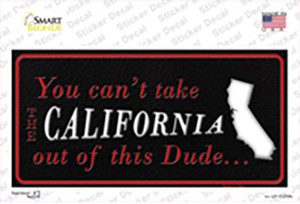 California Dude Wholesale Novelty Sticker Decal