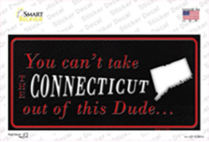Connecticut Dude Wholesale Novelty Sticker Decal