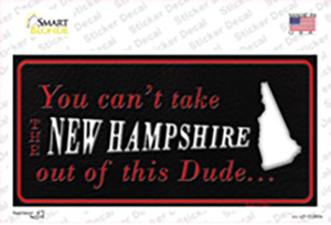 New Hampshire Dude Wholesale Novelty Sticker Decal