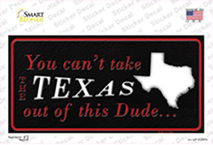 Texas Dude Wholesale Novelty Sticker Decal